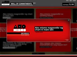 Ako Mismo Wall of Commitment 03